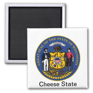 Wisconsin State Seal and Motto Magnet