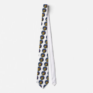 Wisconsin State Seal and Motto Neck Tie