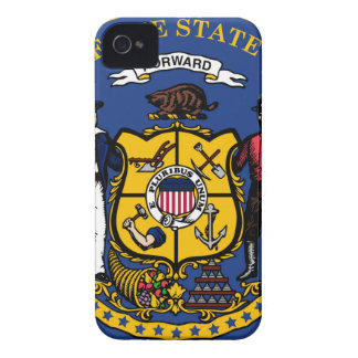 Wisconsin state seal.jpg iPhone 4 Case-Mate case