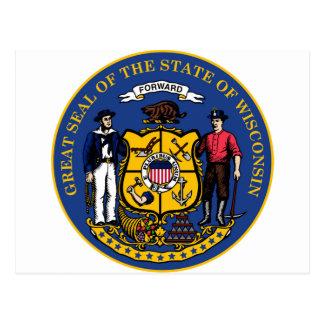 Wisconsin state seal.jpg postcard