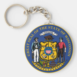 Wisconsin State Seal Keychain