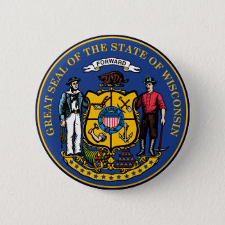 Wisconsin State Seal Pinback Button