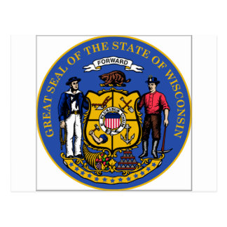 Wisconsin State Seal Postcard