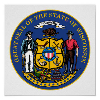 Wisconsin State Seal Poster