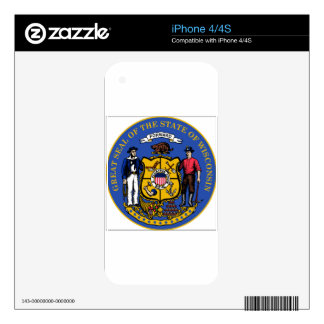 Wisconsin State Seal Decal For iPhone 4S