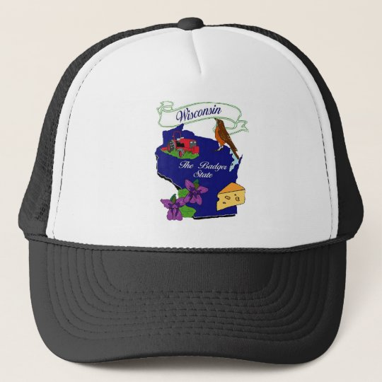Wisconsin State Trucker Hat