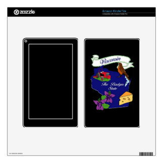 Wisconsin State Zazzle Skin Skins For Kindle Fire