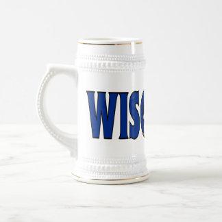 Wisconsin Stein 18 Oz Beer Stein