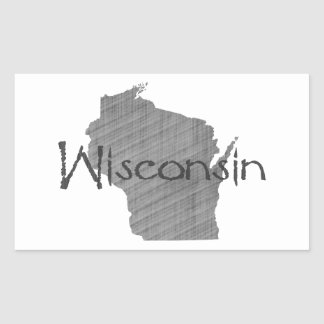 Wisconsin Rectangular Sticker
