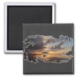 Wisconsin Sunset 2 Inch Square Magnet