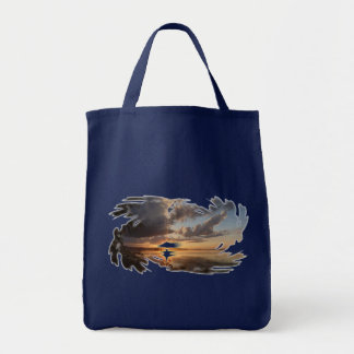 Wisconsin Sunset Grocery Tote Bag