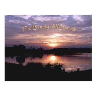 Wisconsin sunset postcard