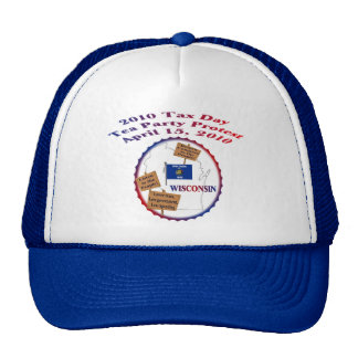 Wisconsin Tax Day Tea Party Protest Mesh Hats