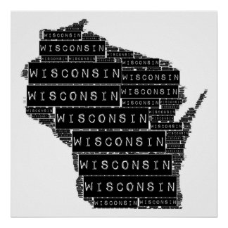 Wisconsin Text Poster