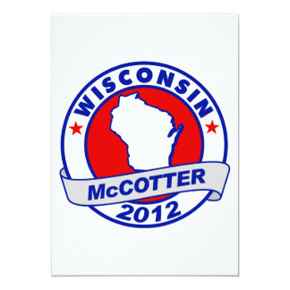 "Wisconsin Thad McCotter 5"" X 7"" Invitation Card"