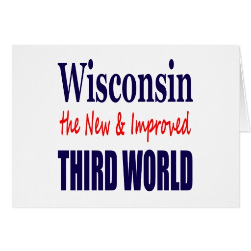 Wisconsin the New & Improved THIRD WORLD Cards