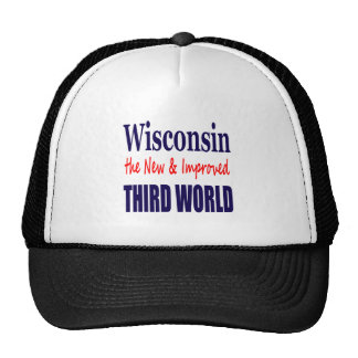 Wisconsin the New & Improved THIRD WORLD Mesh Hats