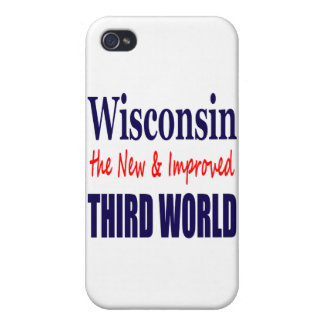 Wisconsin the New & Improved THIRD WORLD Covers For iPhone 4