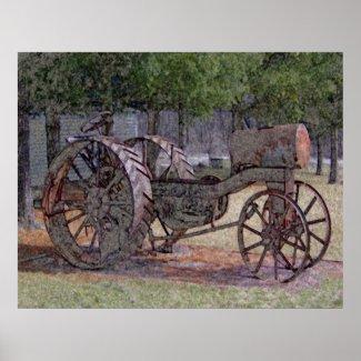 Wisconsin Tractor print