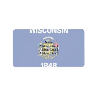 Wisconsin, United States Address Label