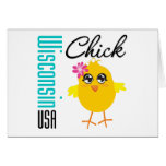 Wisconsin USA Chick Greeting Card