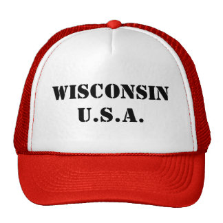 Wisconsin USA Hat
