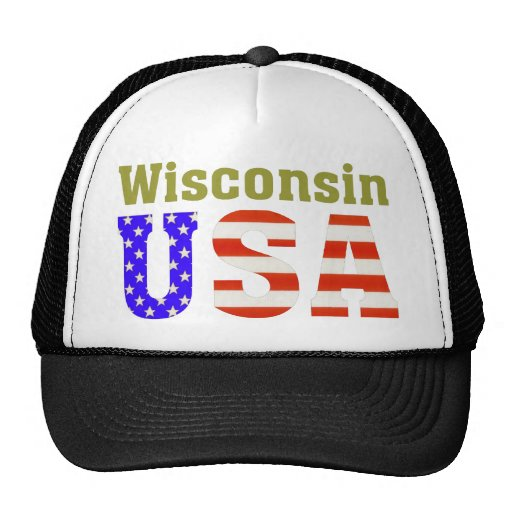 Wisconsin USA! Mesh Hats
