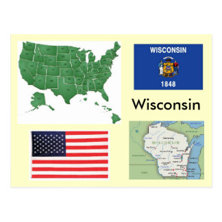 Wisconsin, USA Post Card