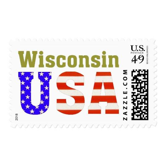 Wisconsin USA! Postage