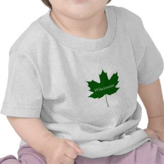 Wisconsin USA Sugar Maple Leaf Tees