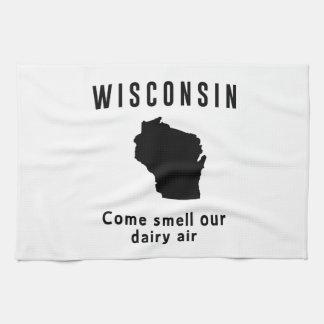 Wisconsin viene olor nuestro aire de la lechería toalla de cocina