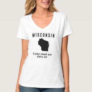 Wisconsin viene olor nuestro aire de la lechería playera
