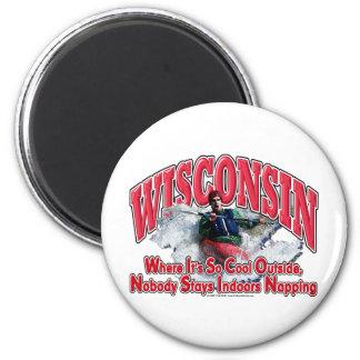 Wisconsin Whitewater Imán Redondo 5 Cm