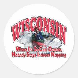 Wisconsin Whitewater Pegatina Redonda