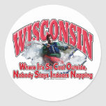 Wisconsin Whitewater Pegatinas Redondas