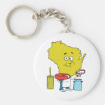 Wisconsin WI Cheese Vintage Travel Souvenir Keychains