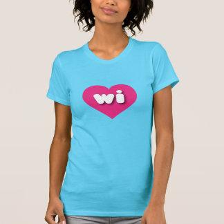 Wisconsin wi hot pink heart T-Shirt