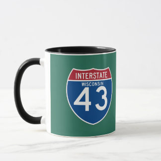 Wisconsin WI I-43 Interstate Highway Shield - Mug