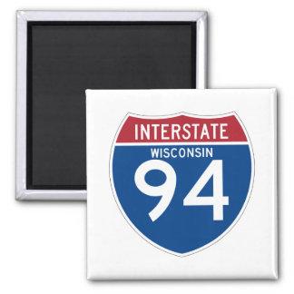 Wisconsin WI I-94 Interstate Highway Shield - Magnet