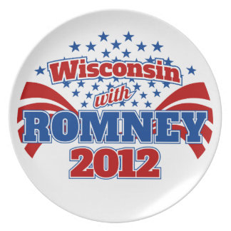 Wisconsin with Romney 2012 Dinner Plate
