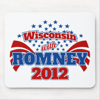 Wisconsin with Romney 2012 Mouse Pad