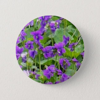 Wisconsin Wood Violets Pin-Back Button