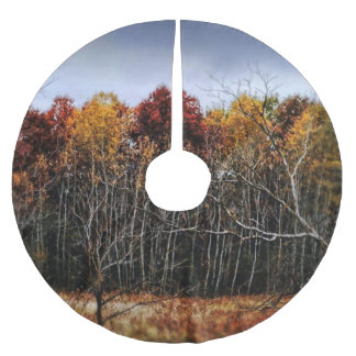Wisconsin Woods In The Fall Brushed Polyester Tree Skirt