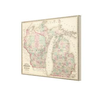 Wisconsin y Michigan Impresiones En Lona