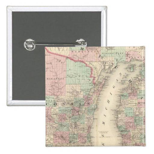 Wisconsin y Michigan Pin