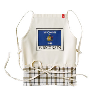Wisconsin Zazzle HEART Apron
