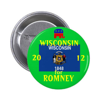 Wisconsinfor Romeey 2012 Pinback Button