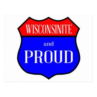 Wisconsinite And Proud Postcard