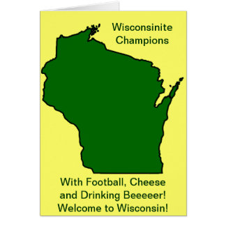 Wisconsinite Champions Football, Cheese and Beer Card