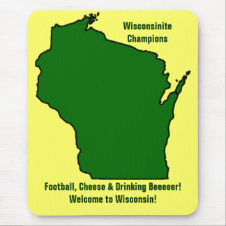 Wisconsinite Champions Football Cheese and Beer Mousepads